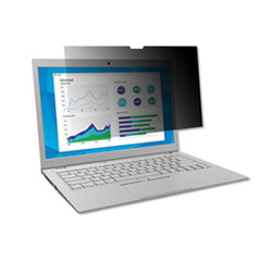"""3M™ Frameless Blackout Privacy Filter for 15.6"""" Widescreen Laptop, 16:9 Aspect Ratio"""