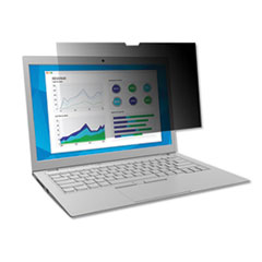 """3M™ Frameless Blackout Privacy Filter for 15.4"""" Widescreen Laptop, 16:10 Aspect Ratio"""