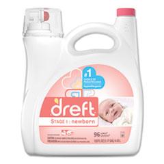Dreft® Ultra Laundry Detergent, Liquid, Baby Powder Scent, 150 oz Bottle, 4/Carton