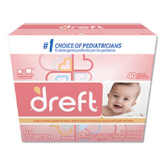 Dreft® Ultra Powdered Laundry Detergent, Baby Powder Scent, 53 oz Box, 4/Carton
