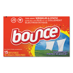 Bounce® Fabric Softener Sheets, Outdoor Fresh, 15/Box, 15 Box/Carton