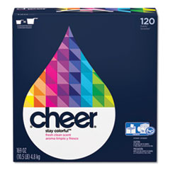 Cheer® Powder Laundry Detergent, Fresh Clean Scent, 169 oz Box, 2/Carton