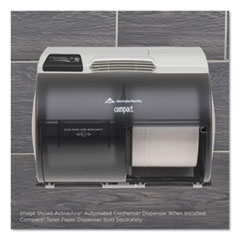 "Georgia Pacific® Professional ActiveAire Automated Freshener Dispenser for Compact Bath Tissue Dispenser, 10.63"" x 2.88"" x 3.75"", Gray"