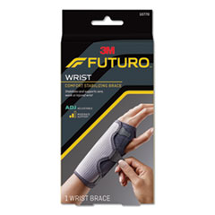 "FUTURO™ Adjustable Reversible Splint Wrist Brace, Fits Wrists 5 1/2""- 8 1/2"", Black"