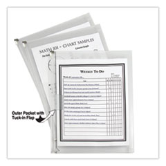 C-Line® Zip n Go Reusable Envelope w/Outer Pocket, 13 x 10, Clear, 3/Pack