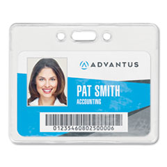 Proximity ID Badge Holder, Horizontal, 3.75 x 3, Clear, 50/Pack