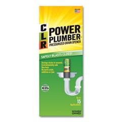 CLR® Power Plumber Drain Opener, 4 1/2 oz Aerosol, 12/Carton