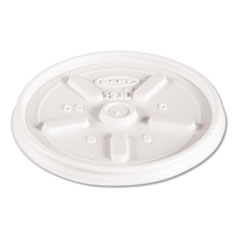 Dart® Plastic Lids for Foam Cups, Bowls and Containers, Vented, Fits 6-14 oz, White, 1,000/Carton