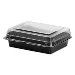 Dart® Creative Carryouts® Hinged Plastic Hot Deli Boxes
