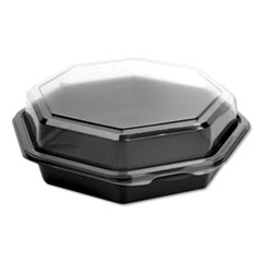 Dart® OctaView® Hinged-Lid Cold Food Containers