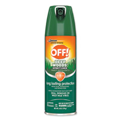OFF!® Deep Woods Sportsmen Insect Repellent, 6 oz Aerosol, 12/Carton