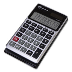 Innovera® 15922 Pocket Calculator, Dual Power, 12-Digit LCD Display