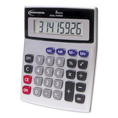 Innovera® 15927 Desktop Calculator, Dual Power, 8-Digit LCD Display
