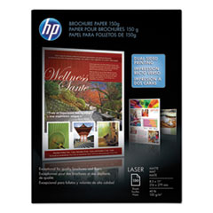 HP Laser Matte Brochure Paper, 112 Bright, 40lb, 8.5 x 11, White, 150/Pack