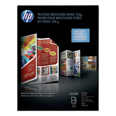 HP Laser Glossy Tri-Fold Brochure Paper