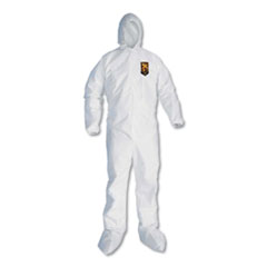 KleenGuard™ A20 Elastic Back and Ankle Hood and Boot Coveralls, 2X-Large, White, 24/Carton