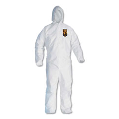 KleenGuard™ A30 Elastic-Back and Cuff Hooded Coveralls, White, 2X-Large, 25/Carton