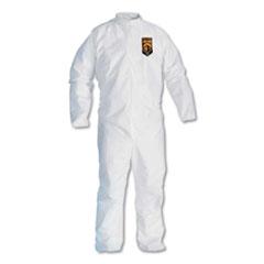KleenGuard™ A30 Elastic-Back Coveralls, White, X-Large, 25/Case