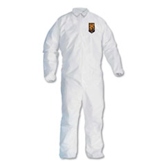 KleenGuard™ A30 Elastic-Back and Cuff Coveralls, White, Large, 25/Carton