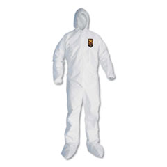 KleenGuard™ A20 Elastic Back and Ankle Hood and Boot Coveralls, White, X-Large, 24/Carton