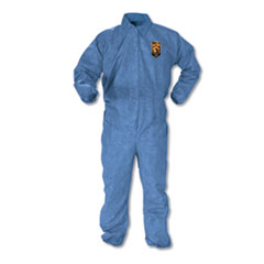 KleenGuard™ A60 Elastic-Cuff, Ankle & Back Coveralls, Blue, Large, 24/Case