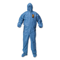KleenGuard™ A60 Blood and Chemical Splash Protection Coveralls, X-Large, Blue, 24/Carton