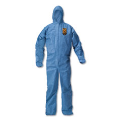 KleenGuard™ A20 Elastic Back Wrist/Ankle Hooded Coveralls, Large, Blue, 24/Carton