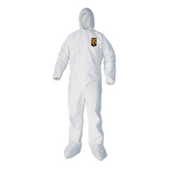 KleenGuard™ A40 Elastic-Cuff, Ankle, Hood and Boot Coveralls, White, 3X-Large, 25/Carton