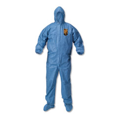 KleenGuard™ A60 Blood and Chemical Splash Protection Coveralls, 3X-Large, Blue, 20/Carton