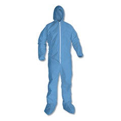 KleenGuard™ A65 Hood & Boot Flame-Resistant Coveralls, Blue, 4X-Large, 21/Carton