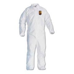 KleenGuard™ A40 Elastic-Cuff and Ankles Coveralls, 4X-Large, White, 25/Carton