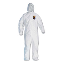 KleenGuard™ A20 Elastic Back, Cuff and Ankles Hooded Coveralls, 4X-Large, White, 20/Carton