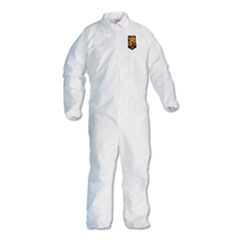 KleenGuard™ A40 Elastic-Cuff and Ankles Coveralls, White, Large, 25/Case