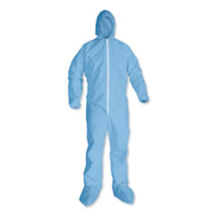 KleenGuard™ A65 Hood and Boot Flame-Resistant Coveralls, Blue, 3X-Large, 21/Carton