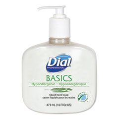 Dial® Professional Basics Liquid Hand Soap, Fresh Floral, 16 oz Pump, 12/Carton