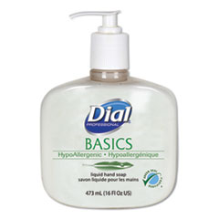 Dial® Professional Basics Liquid Hand Soap, Fresh Floral, 16 oz Pump Bottle