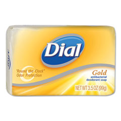Dial® Deodorant Bar Soap, Pleasant, Gold, 4oz Bar, 72/Carton