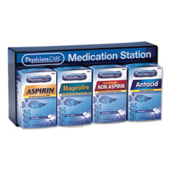 PhysiciansCare® Medication Station: Aspirin, Ibuprofen, Non Aspirin Pain Reliever, Antacid