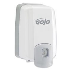 "GOJO® NXT Maximum Capacity Soap Dispenser, 2000 mL, 6.5"" x 10.8"" x 4.5"", White"