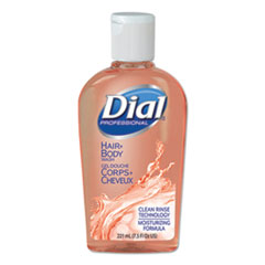 Dial® Professional Body & Hair Care, Peach Scent, 7.5 oz Flip-Cap Bottle, 24/Carton