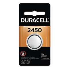 Duracell® Lithium Coin Battery, 2450, 36/Carton