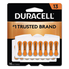 Duracell® Hearing Aid Battery, #13, 16/Pack