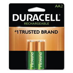 Duracell® Rechargeable StayCharged NiMH Batteries, AA, 2/Pack
