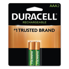 Duracell® Rechargeable StayCharged NiMH Batteries, AAA, 2/Pack