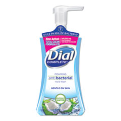 Dial® Antibacterial Foaming Hand Wash, Coconut Waters, 7.5 oz Pump Bottle, 8/Carton