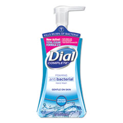 Dial® Antibacterial Foaming Hand Wash, Spring Water, 7.5 oz, 8/Carton