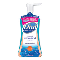 Dial® Antibacterial Foaming Hand Wash, Original Scent, 7.5 oz Pump Bottle, 8/Carton