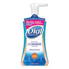 Dial® Antibacterial Foaming Hand Wash, Original Scent, 7.5 oz Pump Bottle, 8/Carton
