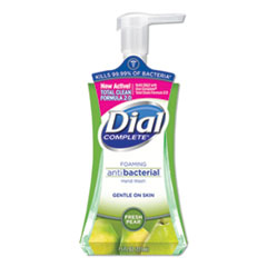 Dial® Antibacterial Foaming Hand Wash, Fresh Pear, 7.5 oz Pump Bottle, 8/Carton