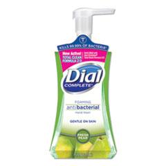 Dial® Antibacterial Foaming Hand Wash, Fresh Pear, 7.5 oz Pump Bottle, 8/Carton